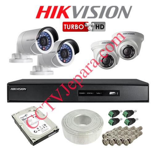 Jual Paket CCTV 4 Kamera Murah Hikvision
