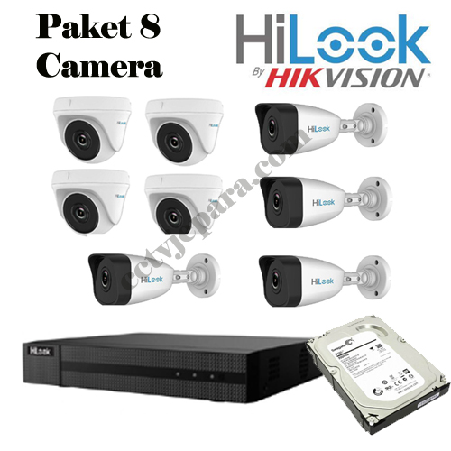 Paket CCTV Hilook 8 Camera HD 2 MP
