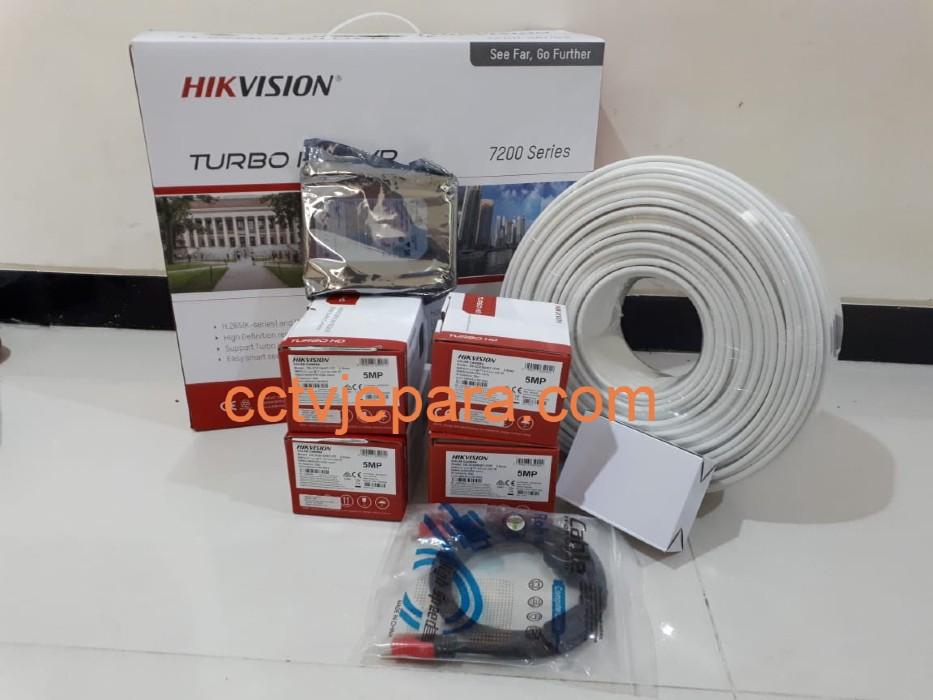 Paket hikvision 5MP 4 kamera - CCTV Jepara